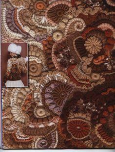 Crochet freeform interprété par des stylistes russes (photos extraites d'un magazine de crochet russe)