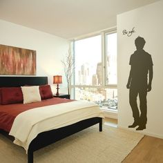 This is an Edward Cullen vinyl decal for your wall.  You know, so he can creepily stare at you while you sleep... @Wendy