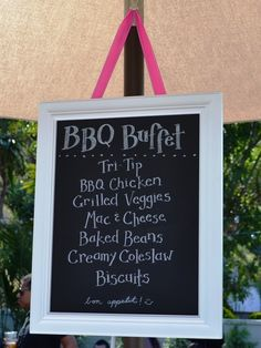 Graduation BBQ Ideas - would be fun to have at the front of table so guests know what's coming....