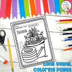Your Students will ADORE these Coloring Book Pages for Long Vowels! Add it to your plans to compliment any Long Vowels Unit! 70 Coloring Pages For Some Long Vowel Fun! Perfect for bulletin board Second Grade Teacher, First Grade Classroom, First Grade Math, Fall Coloring Pages, Coloring Books, Long U Words, Parent Volunteers, Color Crayons, Long Vowels