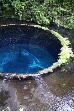 clear water spring Kakita-river in Japan