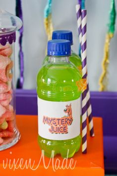 Drinks at a Scooby Doo Party #scoobydoo #partydrinks