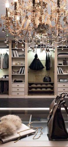 Luxury Decor - gold gilded black chandelier. fur accessory. black. mirrors.storage. art deco