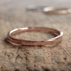 Rose Gold Ring Band, Stacking Ring, Skinny Ring, Stackable Rings, 14K Rose Gold Filled Ring, Textured Ring, Bohemian Ring, Bohemian Jewelry by TesoroDelSol on Etsy https://www.etsy.com/ca/listing/264603356/rose-gold-ring-band-stacking-ring-skinny