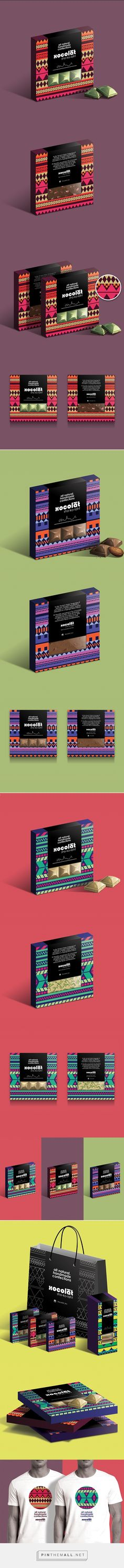 Xocolat Chocolate Packaging on Behance by Studio AIO curated by Packaging Diva PD.  Packaging for Xocolat, a confections shop selling delicious hand made chocolates & macaroons.