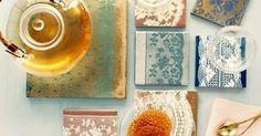 DIY Lace Coasters