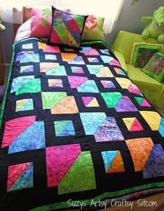 Easy quilt pattern. Make as a gift or give to a quilter! #quilting