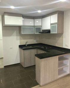 Kitchen Cupboard Designs, Kitchen Room Design, Home Decor Kitchen, Small Kitchen Set, Small Kitchen Layouts, Modern Kitchen Interiors, Minimalist Kitchen, Luxury Kitchens, Apartment Interior