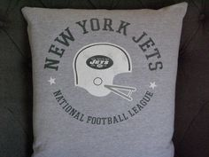 New York JETS T Shirt Throw Pillow by ThePastureRoad on Etsy
