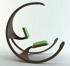 Cadeira de balanço e leitura  Design