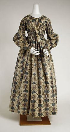 Dress Date: ca. 1837 Culture: British Medium: cotton Accession Number: 1983.241.1