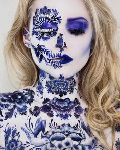 Halloween 2019 is approaching. Have you planned your Halloween makeup? If not, let's take a look at our 50 + most scared and cool Halloween makeup, hoping to give you the greatest inspiration. Cool Halloween Makeup, Halloween Looks, Halloween 2019, Halloween Ideas, Vanessa Davis, Makeup Themes, Makeup Ideas, Creepy Makeup, Fantasias Halloween