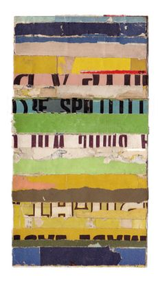 """Intermezzo-65,"" collage by Lisa Hochstein, made of salvaged paper"