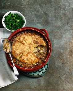 Pork, leek and cider cobbler - A cheesy scone-like topping and slow-cooked pork filling that will have your guests coming back for seconds.