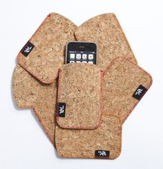 Cool Cork iPod Sleeve. Suitable for iPod, iPhone, smart phones and camera's.