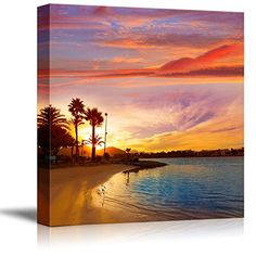 Canvas Prints Wall Art - Alcudia Majorca at Sunset on the... https://www.amazon.com/dp/B00VR7H9EU/ref=cm_sw_r_pi_dp_x_lTsjybEZJPWA6