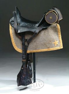 Confederate officers saddle