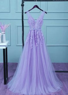 Beautiful Light Purple Tulle Long Party Gown, A-line V-neckline Prom Dress Beautiful Light Purple Tulle Long Party Gown, A-line V-neckline Prom D – BeMyBridesmaid dresses short Purple Grad Dresses, Light Purple Prom Dress, Lavender Prom Dresses, Cute Formal Dresses, Homecoming Dresses Tight, Tulle Prom Dress, Beautiful Prom Dresses, Chiffon Prom Dresses, Light Purple Bridesmaid Dresses