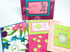 Colorful hibiscus blank card - all occasion cards  - bright birthday cards - shimmer embossed - bird cards - Love - lime green - embossed by Wcards on Etsy