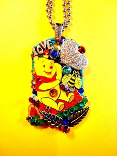 Character Dog Tag Pendant Number 1113 by BradosBling on Etsy, $39.99 www.bradosbling.com