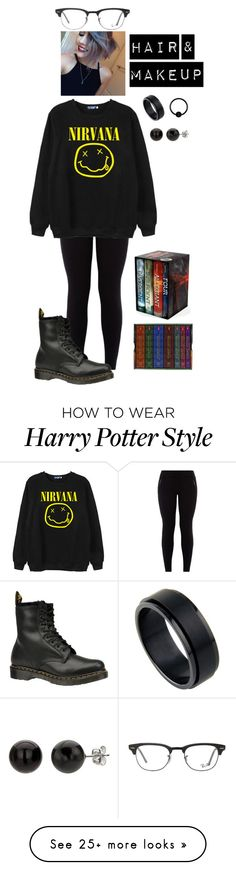 """Reading day!"" by elena93140 on Polyvore featuring Chicnova Fashion, Dr. Martens and Ray-Ban"