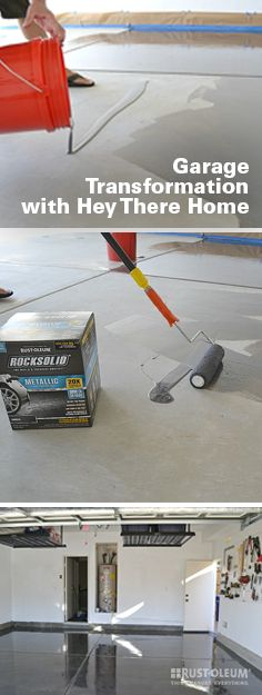 Transform your garage from clutter to a clean slate, just like Hey There, Home! Start by giving your concrete floor a thorough cleaning with concrete etch (included with every garage coat kit) to avoid any lumps and bumps in the final result. Find all the