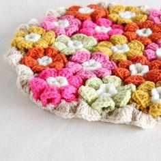お花モチーフの円座- 編み物キットオンラインショップ・イトコバコ