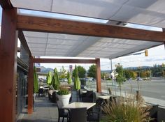 Cantilever Retractable Canopies at Ora Restaurant in Kelowna 2. ♥ Loved and pinned by www.misfeldtaccounting.com