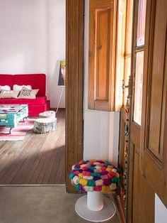 <!--:es-->Leila. PH de 3 ambientes + patio en el Barrio Martin. Rosario, Provincia de Santa Fe. <!--:--> Rustic Farmhouse Decor, Rustic Decor, Decorating Small Spaces, Interior Decorating, Ladder Decor, Ideal Home, Diy Home Decor, Sweet Home, Patio