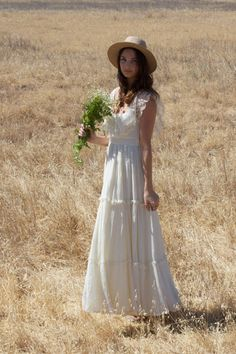 """""""Lacey"""" Vintage Wedding Dress by Daughters Of Simone, $745.00"""