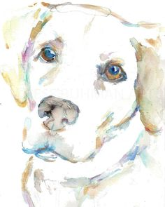 Easy Watercolor, Watercolor Animals, Watercolor Print, Watercolor Paintings, Cow Painting, Painting Prints, Painting Abstract, Canvas Prints, Dog Portraits