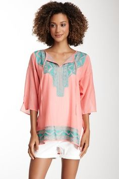 HauteLook   Start From The Top: Green Dragon Tribal Flare Tunic