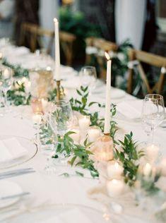 Romantic candle wedding centerpiece