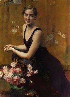 Portrait d'une jeune femme, Herman Jean Joseph Richir (Belgian, 1866-1942).