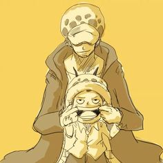 Young Law and Older Law smile - Trafalgar D. Water Law One piece