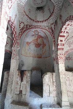Turkey, Cappadocia, Goreme, Cave churches