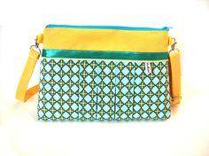 sac bandouliere jaune et bleu a motifs géometriques  par tchaiwalla