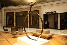 Nathalie Decoster's Sculptures at CDG Airport Cartier, Chanel, Sculptures, Lighting, Places, Projects, Log Projects, Light Fixtures, Sculpting