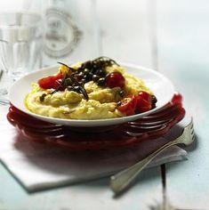 Parmesan-Polenta mit Tomaten Rezept | LECKER