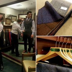 [02/12/15] - David Gandy at Henry Poole Co in Saville Row getting ready for LCM in January