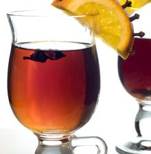 Hot Cider Punch. Frankly, I'd leave the sugar out of the recipe because cider is sweet enough on its own...