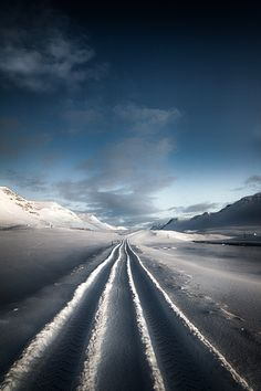 The road to nowehere - The road leading to nowhere in Unadalur valley in the northwestern part of Iceland.