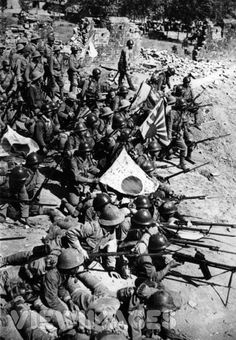 Japan's Kwantung Army lines up in a bid to capture Xuzhou.