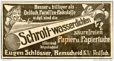 Original-Werbung/ Anzeige 1912 - PACKSTOFFE SCHLÖSSER REMSCHEID - ca. 100 x 50 mm