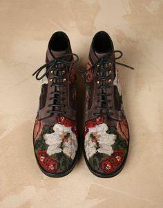 Bottine siracusa en daim et velours avec broderie Homme - Chaussures