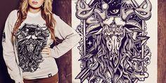 """Danger of Death | Cosmic Elk"" t-shirt design by Cutty."