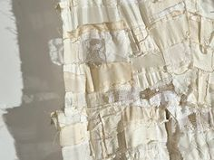 Detail from White Rag Quilt by Barbara Wisnoski