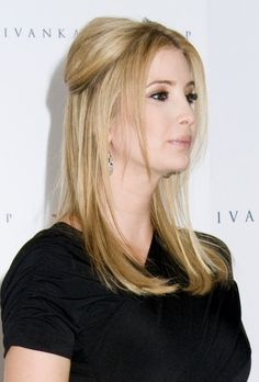 Ivanka Trumps partial updo hairstyle