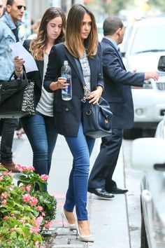 It's In the Jeans: Inspiring Celebrity Denim! Love the Ralph Lauren Bucket bag too!