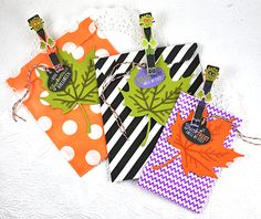 Frankenstein Treat Bags by Dawn McVey for Papertrey Ink (August 2015)
